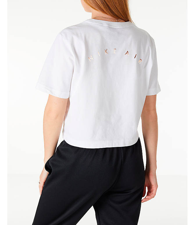 5c809a294b48 Back Left view of Women s Nike Sportswear Air Short Sleeve Crop T-Shirt