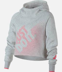 Girls' Nike Sportswear Crop Hoodie