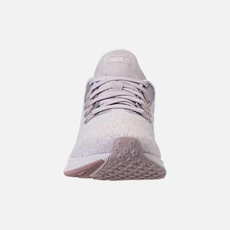 Front view of Women's Nike Air Zoom Pegasus 35 Premium Running Shoes in Vast Grey/Diffused Taupe/Summit