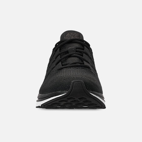 Front view of Men's Nike Flyknit Trainer Running Shoes in Black/White