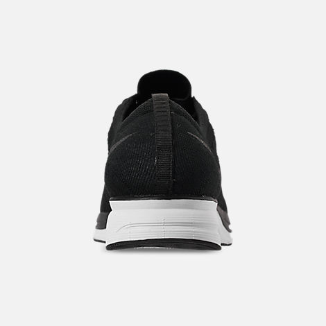 Back view of Men's Nike Flyknit Trainer Running Shoes in Black/White