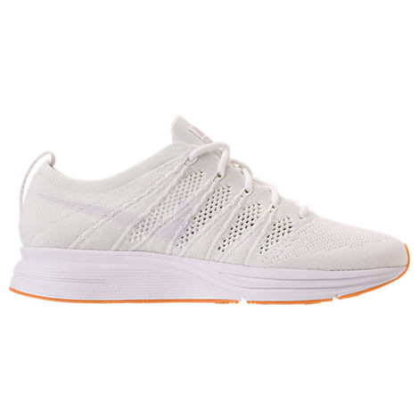 MEN'S FLYKNIT TRAINER RUNNING SHOES, WHITE