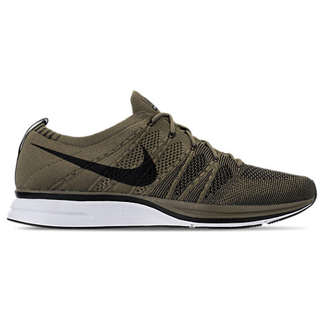 MEN'S FLYKNIT TRAINER RUNNING SHOES, GREEN