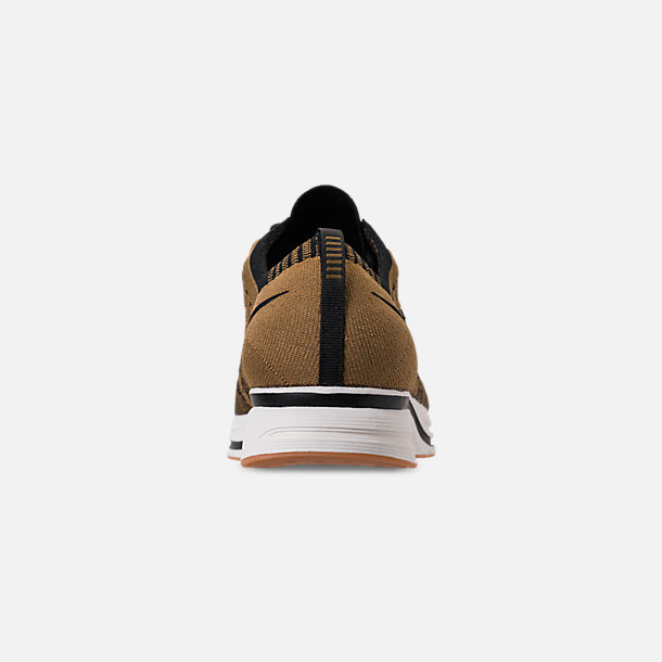 444d043a2c6c Back view of Men s Nike Flyknit Trainer Running Shoes in Golden  Beige Black Gum