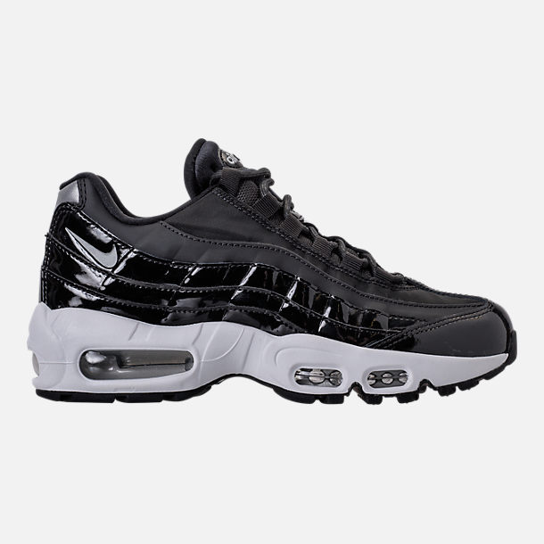 Right view of Women's Nike Air Max 95 Special Edition Casual Shoes in Black/Reflective Silver/Grey/White