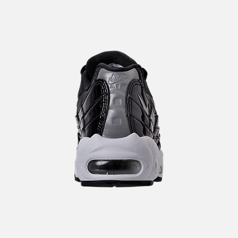 Back view of Women's Nike Air Max 95 Special Edition Casual Shoes in Black/Reflective Silver/Grey/White