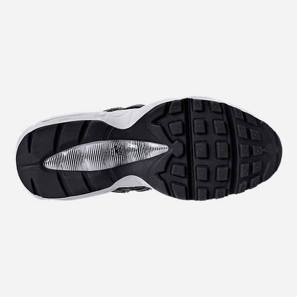 Bottom view of Women's Nike Air Max 95 Special Edition Casual Shoes in Black/Reflective Silver/Grey/White