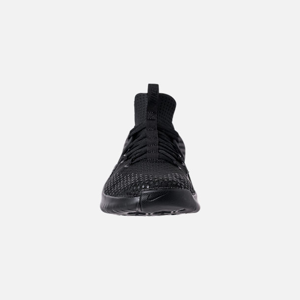 Front view of Men's Nike Free Trainer V8 Training Shoes in Triple Black