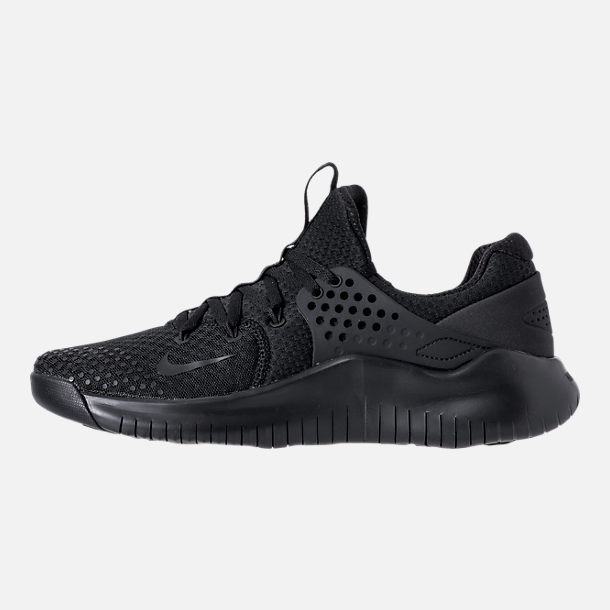 Left view of Men's Nike Free Trainer V8 Training Shoes in Triple Black