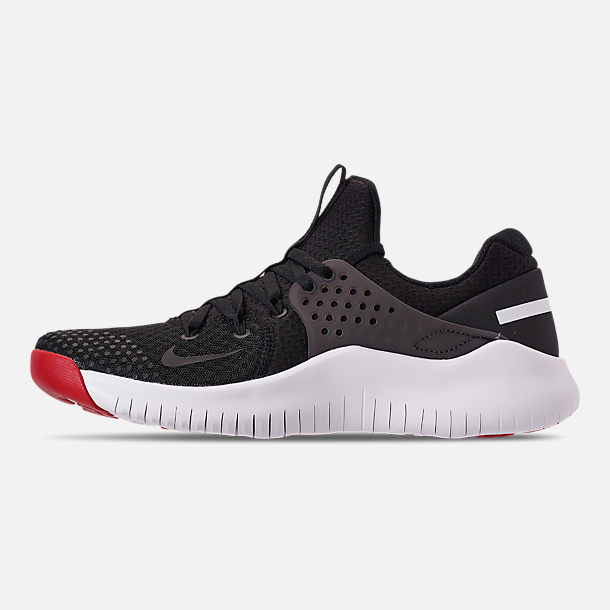 9f08e9a29107 Left view of Men s Nike Free Trainer V8 Training Shoes in Black White Red