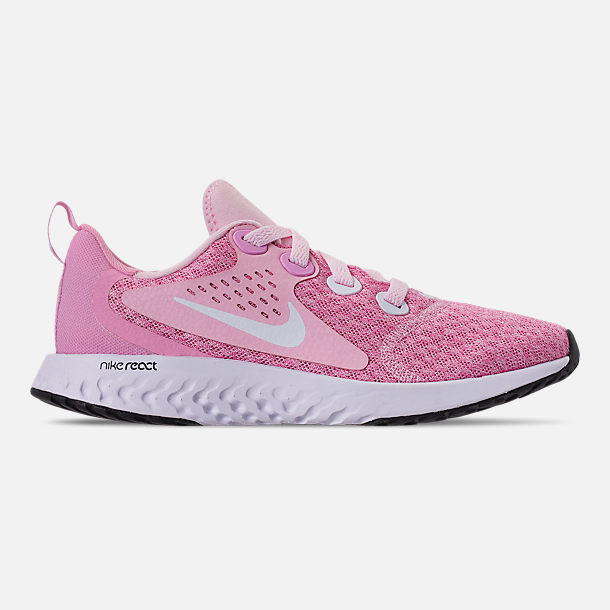 the latest 3068c 831ba Right view of Girls  Big Kids  Nike Legend React Running Shoes in Pink Foam