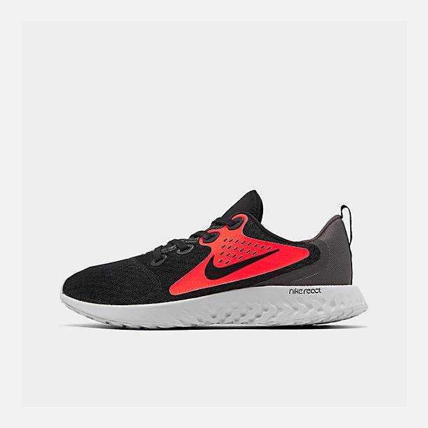 reputable site 6e55a e1da5 Right view of Boys' Big Kids' Nike Legend React Running Shoes in Black/