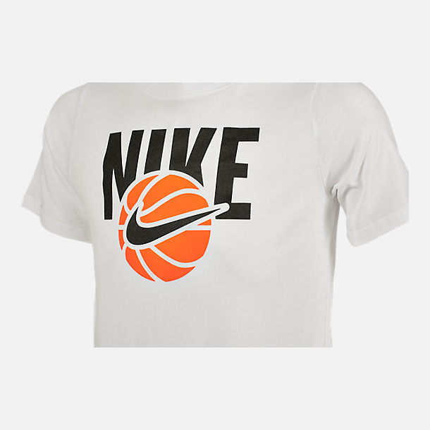 Back view of Boys' Nike Basketball T-Shirt in White