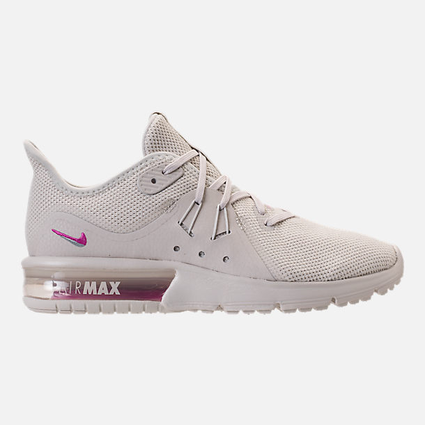 Right view of Women's Nike Air Max Sequent 3 LE Running Shoes in Light Bone/Light Bone/Light Pumice