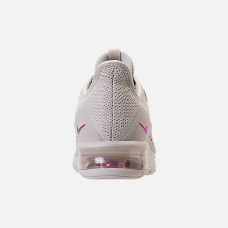 Back view of Women's Nike Air Max Sequent 3 LE Running Shoes in Light Bone/Light Bone/Light Pumice