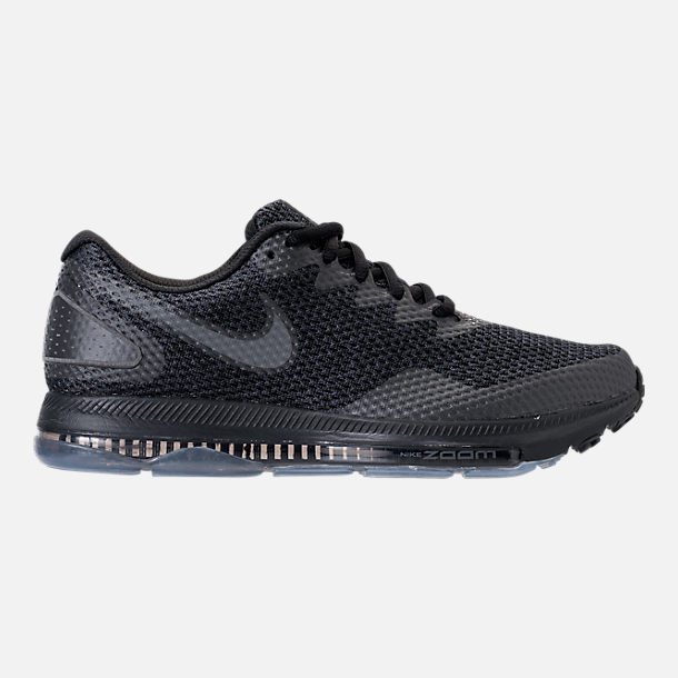 Right view of Men's Nike Zoom All Out Low 2 Running Shoes in Black/Dark Grey/Anthracite