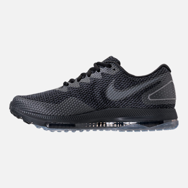 Left view of Men's Nike Zoom All Out Low 2 Running Shoes in Black/Dark Grey/Anthracite