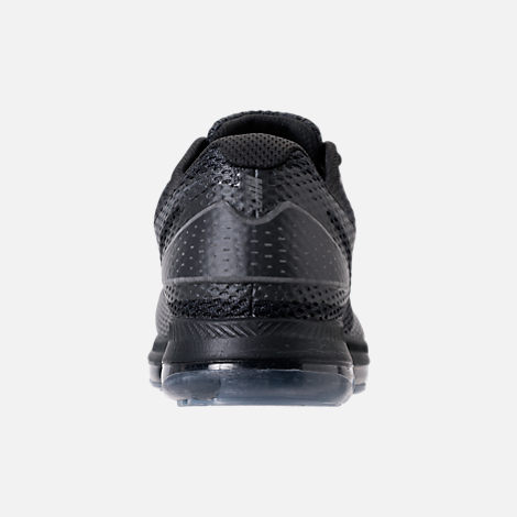 Back view of Men's Nike Zoom All Out Low 2 Running Shoes in Black/Dark Grey/Anthracite