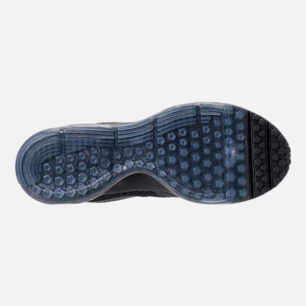 Bottom view of Men's Nike Zoom All Out Low 2 Running Shoes in Black/Dark Grey/Anthracite