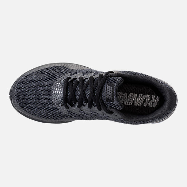 Top view of Men's Nike Zoom All Out Low 2 Running Shoes in Black/Dark Grey/Anthracite