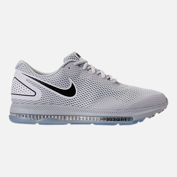 Right view of Men's Nike Zoom All Out Low 2 Running Shoes in Pure Platinum/Black/White
