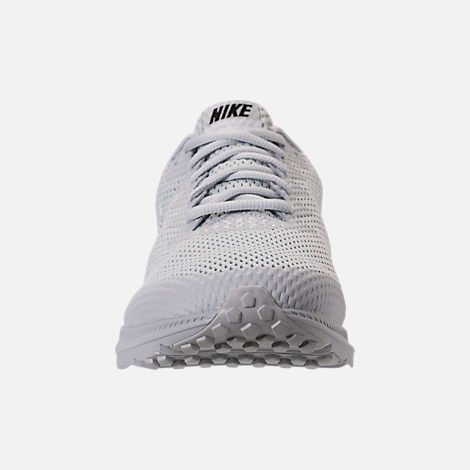 Front view of Men's Nike Zoom All Out Low 2 Running Shoes in Pure Platinum/Black/White
