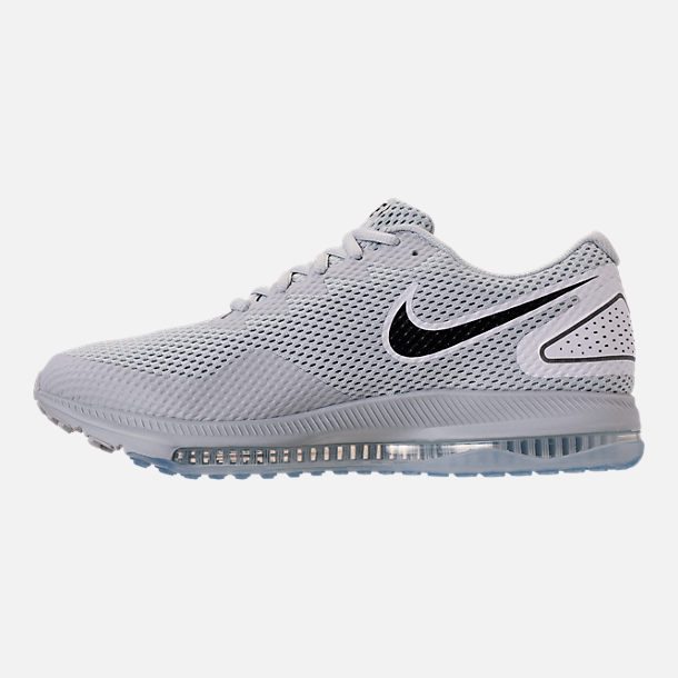 Left view of Men's Nike Zoom All Out Low 2 Running Shoes in Pure Platinum/Black/White
