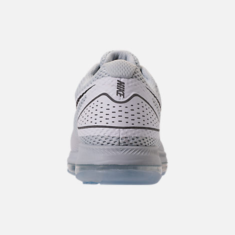 Back view of Men's Nike Zoom All Out Low 2 Running Shoes in Pure Platinum/Black/White