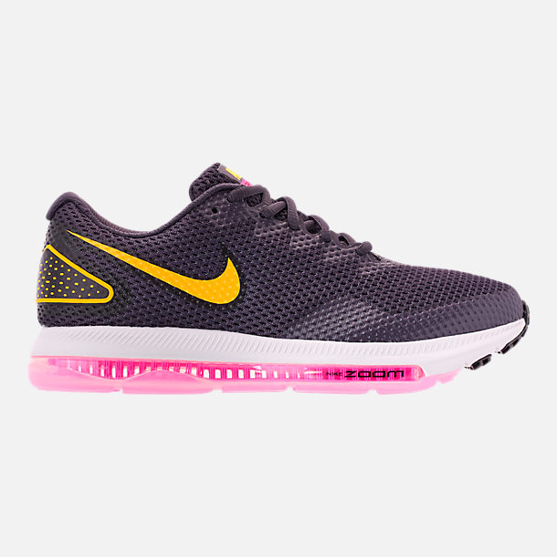 Right view of Women's Nike Zoom All Out Low 2 Running Shoes in Gridiron/Laser Orange/Black