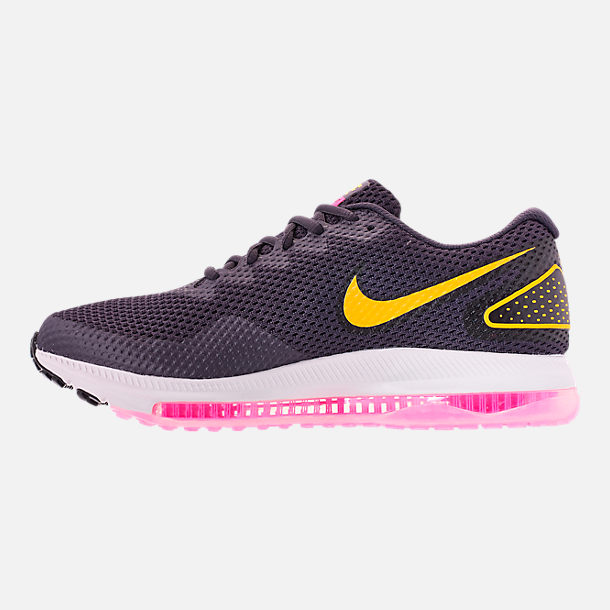 Left view of Women's Nike Zoom All Out Low 2 Running Shoes in Gridiron/Laser Orange/Black