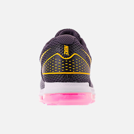 Back view of Women's Nike Zoom All Out Low 2 Running Shoes in Gridiron/Laser Orange/Black