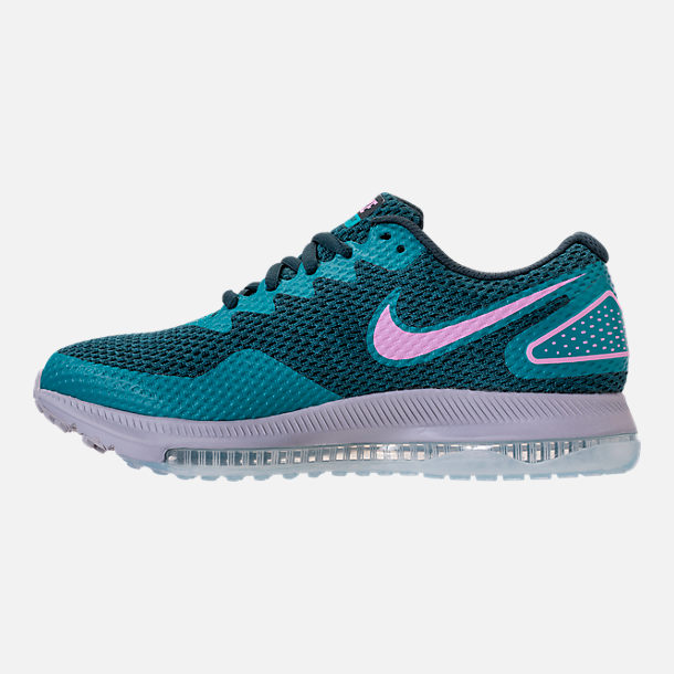 Left view of Women's Nike Zoom All Out Low 2 Running Shoes in Armory Navy/Light Magenta/Blistery