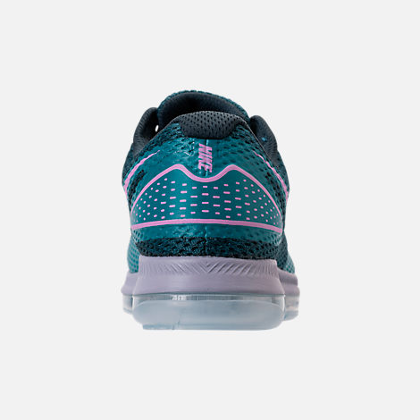 Back view of Women's Nike Zoom All Out Low 2 Running Shoes in Armory Navy/Light Magenta/Blistery