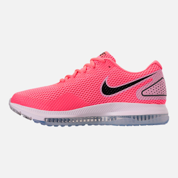 Left view of Women's Nike Zoom All Out Low 2 Running Shoes in Hot Punch/Black/Light Arctic Pink