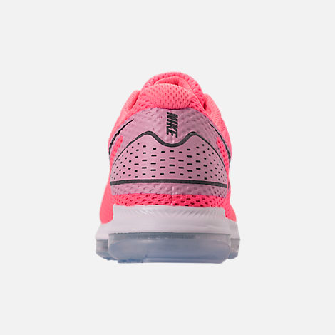 Back view of Women's Nike Zoom All Out Low 2 Running Shoes in Hot Punch/Black/Light Arctic Pink