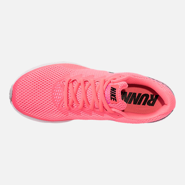 Top view of Women's Nike Zoom All Out Low 2 Running Shoes in Hot Punch/Black/Light Arctic Pink