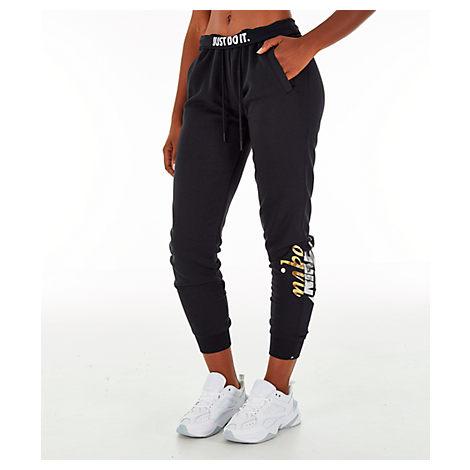 Women'S Sportswear Rally Metallic Jogger Pants, Black