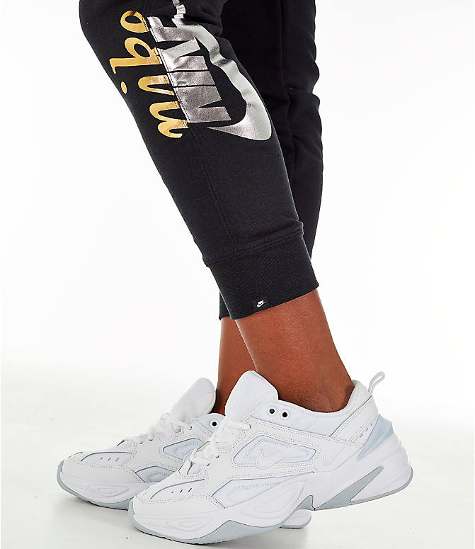 Detail 2 view of Women's Nike Sportswear Rally Metallic Jogger Pants in Black