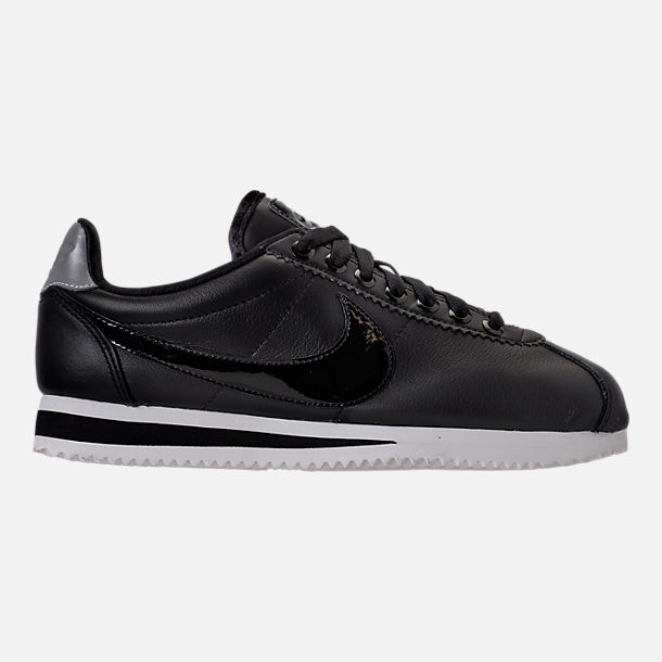 Right view of Women's Nike Classic Cortez Special Edition Premium Casual Shoes in Black/Reflective Silver/Cool Grey