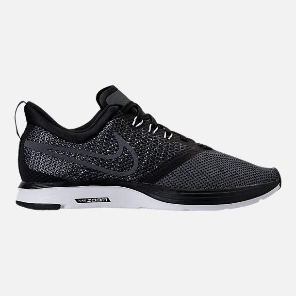 Right view of Women's Nike Zoom Strike Running Shoes in Black/White/Dark Grey/Anthracite