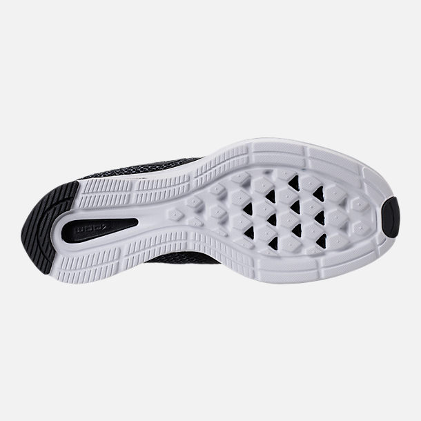 Bottom view of Women's Nike Zoom Strike Running Shoes in Black/White/Dark Grey/Anthracite