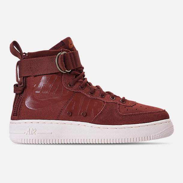 Right view of Boys' Big Kids' Nike SF Air Force 1 Mid Casual Shoes