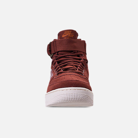 Front view of Boys' Big Kids' Nike SF Air Force 1 Mid Casual Shoes