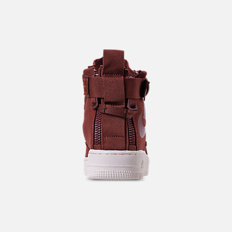 Back view of Boys' Big Kids' Nike SF Air Force 1 Mid Casual Shoes