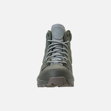 Front view of Boys' Grade School Nike Manoa '17 Boots in Dark Stucco/Wolf Grey/Cobblestone