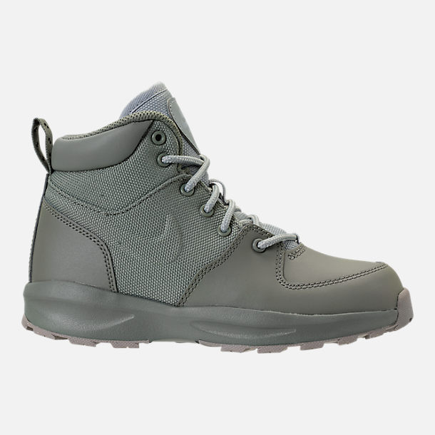 Right view of Boys' Preschool Nike Manoa '17 Boots in Dark Stucco/Wolf Grey/Cobblestone