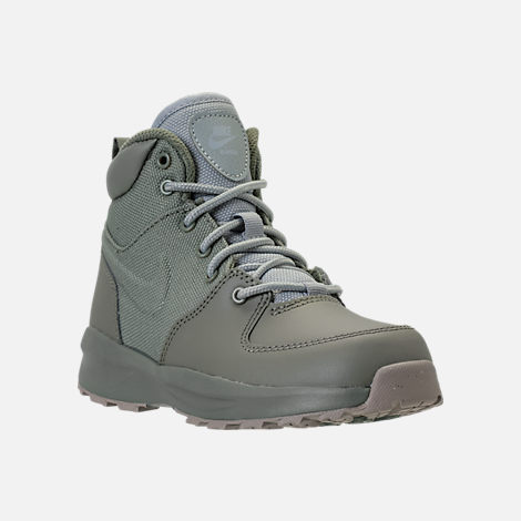 Three Quarter view of Boys' Preschool Nike Manoa '17 Boots in Dark Stucco/Wolf Grey/Cobblestone