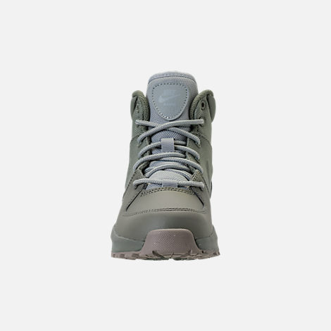 Front view of Boys' Preschool Nike Manoa '17 Boots in Dark Stucco/Wolf Grey/Cobblestone