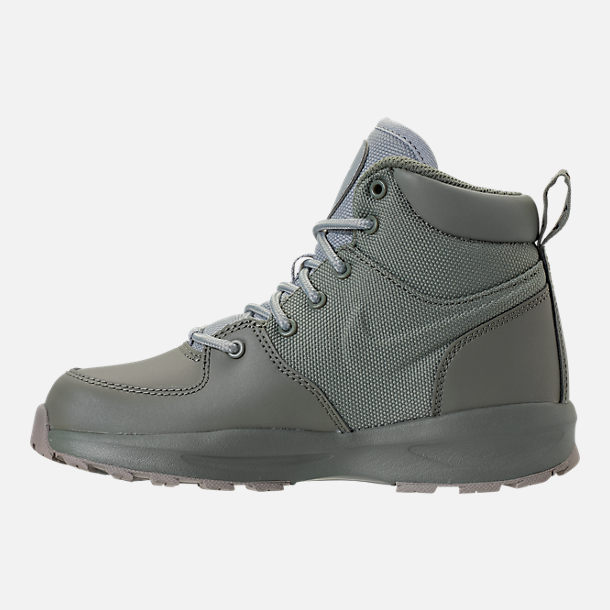 Left view of Boys' Preschool Nike Manoa '17 Boots in Dark Stucco/Wolf Grey/Cobblestone