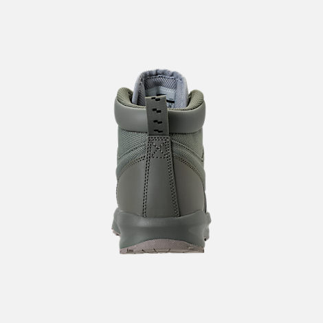 Back view of Boys' Preschool Nike Manoa '17 Boots in Dark Stucco/Wolf Grey/Cobblestone